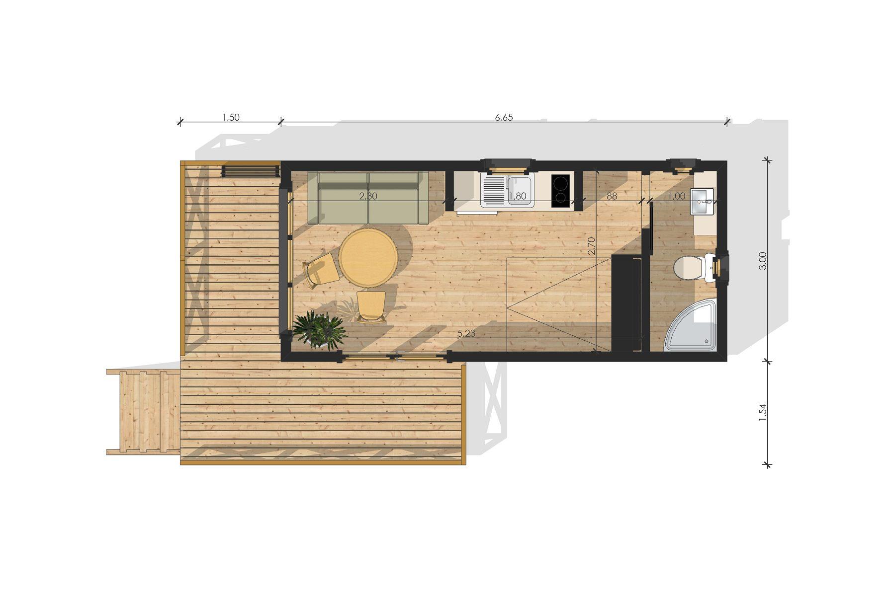 Studio de jardin sans permis de construire for Bureau de jardin prix
