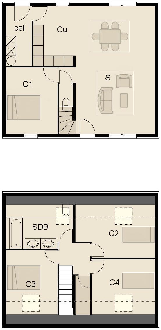 plan fa ade maison ossature bois optimale 8. Black Bedroom Furniture Sets. Home Design Ideas