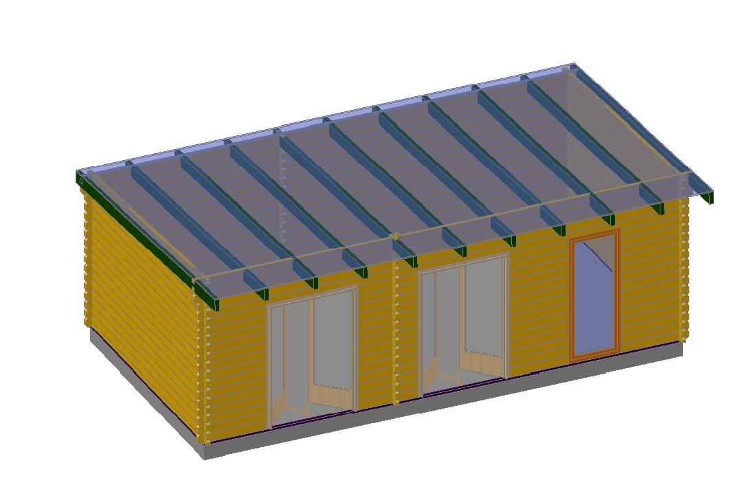 maison de jardin avec ossature bois arcachon 35m 35 m. Black Bedroom Furniture Sets. Home Design Ideas
