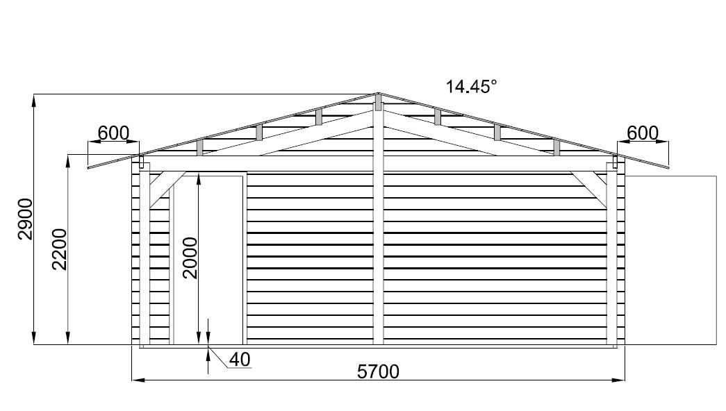 Garage en bois for Fabriquer son garage en bois